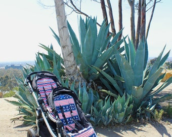 2 Custome Stroller Liners For Donkey City Mini Dbl By