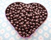 SALE--100pc 8mm dark coffee  Pearl beads,faux pearl beads,plastic beads