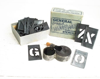 Vintage General Easy Lock Adjustable Interlocking Stencil Kit