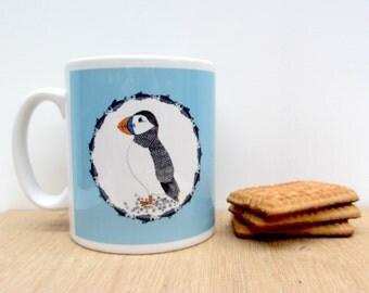 Puffin and Herring - Ceramic mug