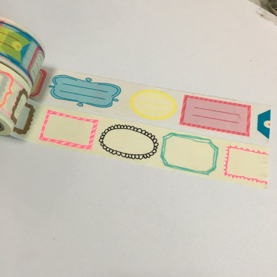 1 Roll of Japanese Washi Tape (Pick 1) -Blank Label Tag