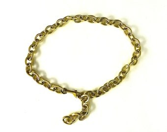 Mid CenturybLarge Link Gold Chain Belt