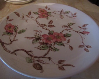 "Nasco ""Springtime"" Platter/Chop Plate, Serving Piece ECS"