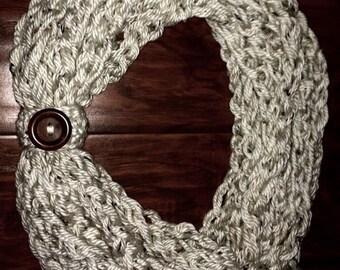 Crochet Tweed Rope Scarf