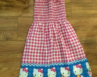 Hello Kitty Smocked Dress-2T