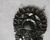 Tumi Peruvian Pendant Soapstone carving with loops for a chain or cord, Vintage Tourist Souvenir Good luck Talisman
