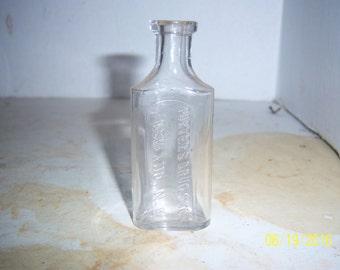 """1890's Porter's Drug Store Ashland, NH 3 5/8"""" inch clear medicine bottle"""