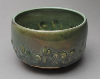 Tea Bowl Handmade Chawan  Soda Fired C24
