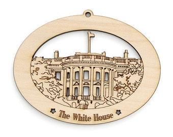 The Washington DC White House Ornament