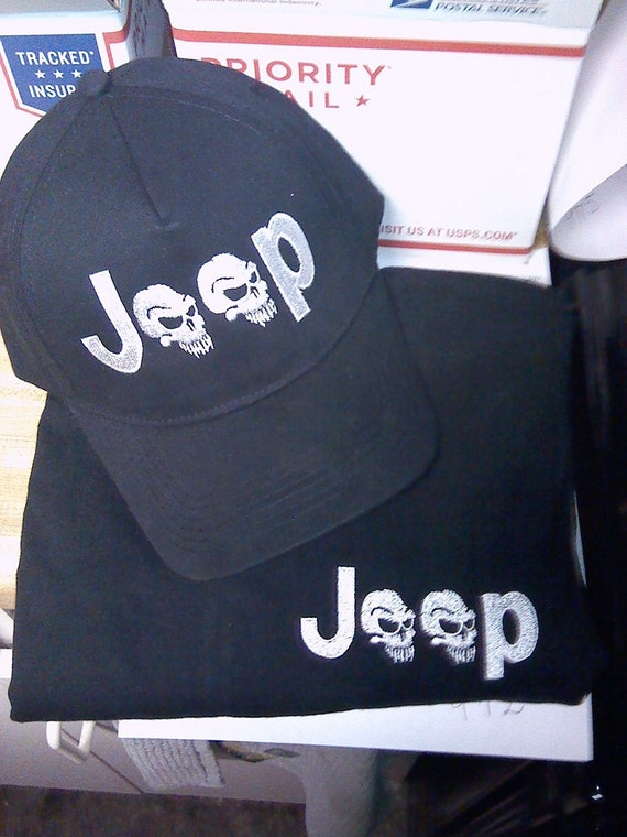 Jeep tee shirt save with a combo custom embroidered hat for Custom t shirts and hats