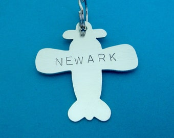 Airplane Pet ID Tag- Handmade - Pilot - Identification - Personalize - Unique