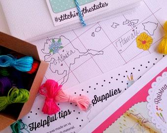 ALASKA & HAWAII add-on ONLY - Stitching the States pattern