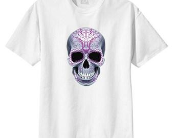 Scroll Cross Sugar Skull New T Shirt S M L XL 2X 3X 4X 5X Day of the Dead