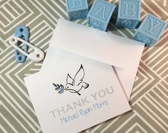 Personalized Baptism or Baby Shower Thank You Cards - Made to Order