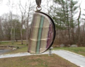Fluorite Sterling Silver Pendant