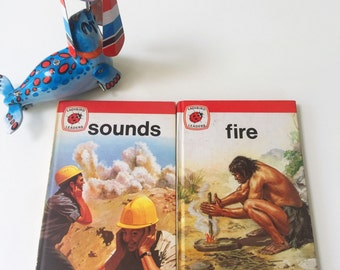 Set of 2 Vintage Ladybird Book Leaders Series 737 Fire & Sounds