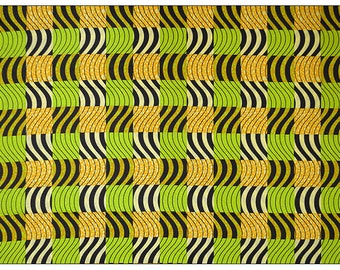 Block Wax Print African Fabrics/Kitenge/Pagnes Sold By The Yard161994114763