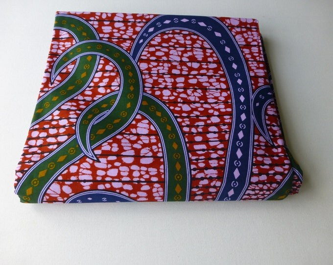 African Fabrics Block Wax Print / Fabric For Dressmakings/Fabric for Sewing Dresses Sold By FAT QUARTER