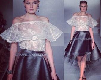 Irina Shabayeva Leather skirt (veg leather).