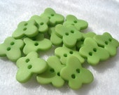 10mm Green Butterfly Buttons Pack of 15 Small Green Butterfly Buttons A169