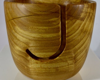 1081 Yarn bowl, made from figured Elm