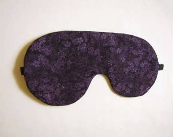 Plum Sleep Mask, Adjustable Sleeping Mask, Purple Sleeping Eye Mask