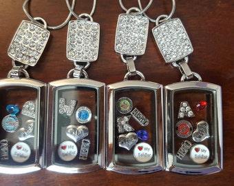 Military Wife Dog Tag Locket Charm Necklace - Choose Branch, Initial & Birthstone!! SOO CUTE!!!