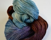 Hand dyed yarn pick your base - Rocky Shore - sw merino cashmere nylon fingering dk worsted