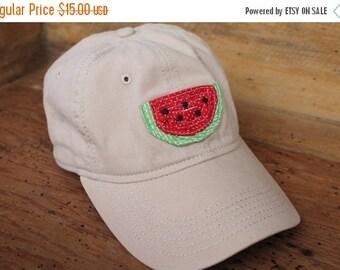 ON SALE Sale Baseball Cap - Khaki/Red Watermelon - Ready to Ship