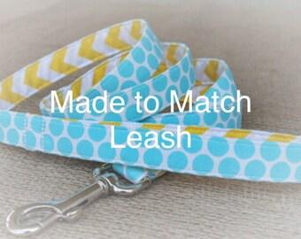 Dog Leash 3 Feet - Leash Custom Made to Match Collar