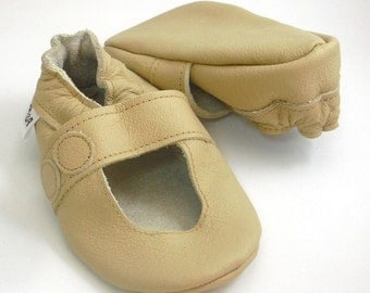 soft sole baby shoes handmade infant gift sandals beige 12-18m ebooba SN-14-BE-T-3