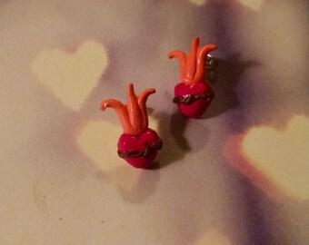 Flame Heart Earrings