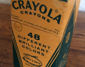Vintage Box of Crayola Crayons