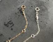 "Extender chain - goldfill extender - sterling silver extender - rose gold lengthen layer necklace - Necklace Extender, Chain Extender 2"", 3"""