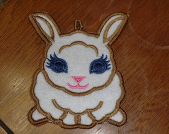 Embroidered Ornament - Easter - Felt Bunny