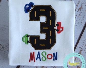 Racetrack Birthday Shirt, Toddler Race car outfit, Car and track Birthday theme, Racetrack,  Photo Prop