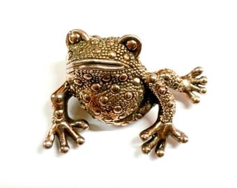 Mexican Sterling Silver Frog Pin / Necklace