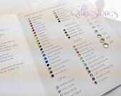 Qrhinestones Rhinestones Color Chart (Flat Back Rhinestones)