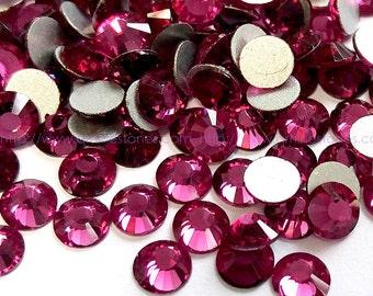 Crystal Rhinestone wholesale 1440pcs 2.4mm Purple Red Fuchsia No Hotfix
