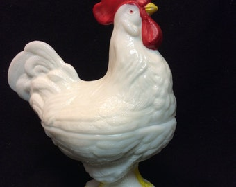 Rare Vintage Standing Westmoreland Rooster