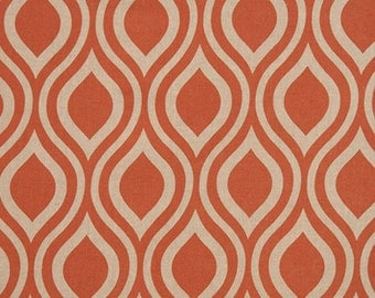 Tabby Burnt Orange Natural Linen Nicole Curtains - Grommet - 84 96 108 or 120 Long by 24 or 50 Wide - Optional Blackout or Cotton Lining