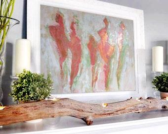 "Large Original Abstract Painting, acrilic painting on canvas, Gold, Chrome Painting, Acrylic painting, 36"", Wall Art"