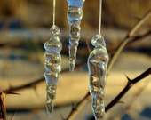 Hand Blown Borosilicate Glass Icicles- Set of 3