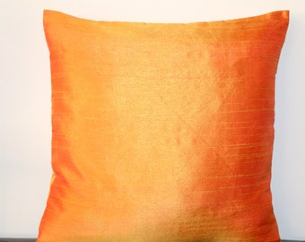 Mustard Pillow Cover Solid Mustard Gold Silk Pillow Mustard Gold Cushion Gold Pillow Cover Decorative Pillow Accent Pillow 16x16 pillow