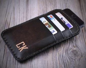 iPhone Leather Case, iPhone SE Leather Case, iPhone 6 Leather Case, iPhone 6 Plus Leather Case, iPhone 6s/6s Plus Leather Case, Dark Brown