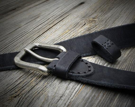 black aged leather belt mens leather belt womens leather