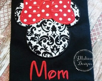 Girl Mouse Custom embroidered Disney Inspired Vacation Shirts for the Family! 829