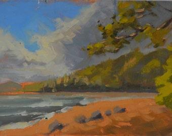 Kauai - Hawaii - Beach - Ocean - Seascape - Mountains - Island - Plein Air - Oil Painting - North Shore - Hanalei Bay