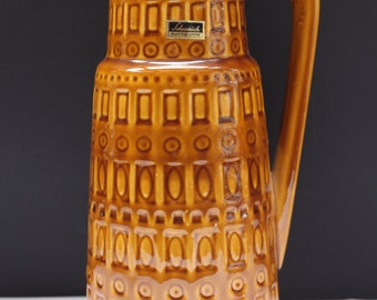"""1x Scheurich  floor handled vase  """"Inka Dekor"""" West German Pottery Ceramic MID CENTURY Lava Eames 60's"""