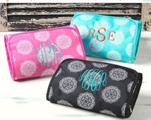 ON SALE Hanging Cosmetic Bag-  3 Colors to choose from! Perfect for Bridal Party or Travel -Personalization Included!